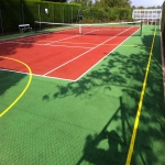 Sports Court Line Marking in Abermagwr 1