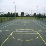 Sports Court Construction in Abermagwr 1