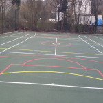 Sports Court Construction in Alwoodley Park 8
