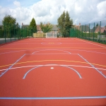 Sports Court Line Marking in Abermagwr 2