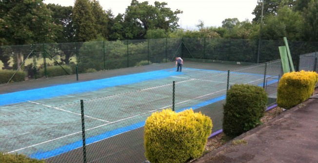 Sports Court Painting in Aston on Carrant