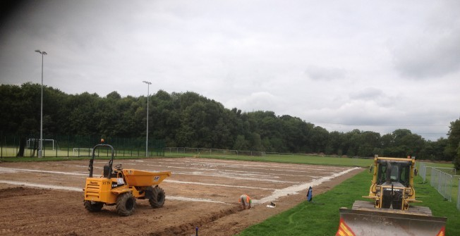 Sports Court Construction in Alwoodley Park