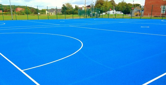 Sports Court Line Marking in West Dunbartonshire
